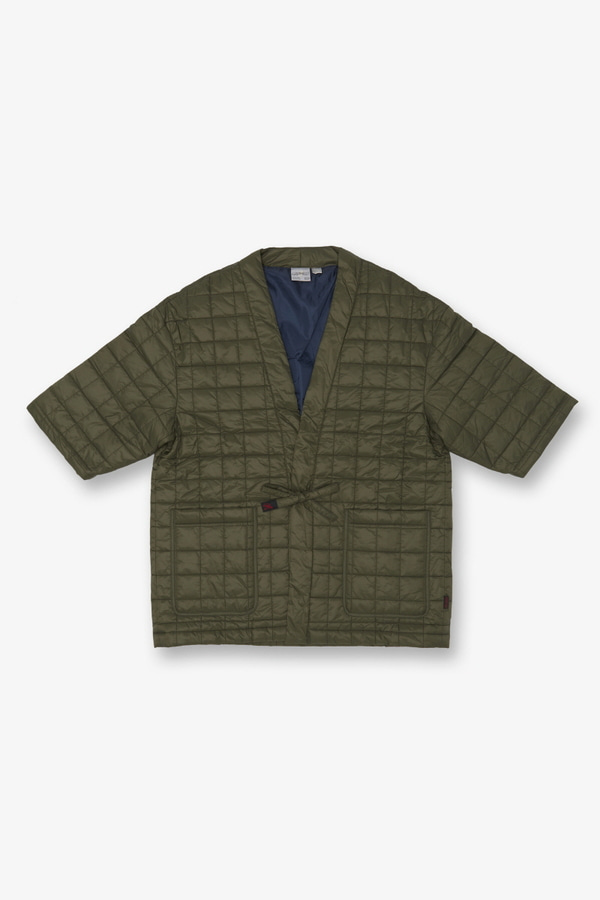 QUILTING ROBE JACKET OLIVE