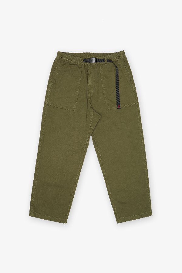 LOOSE TAPERED PANTS OLIVE