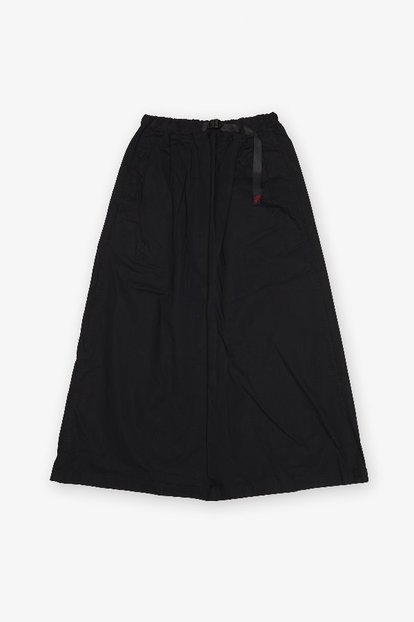 WEATHER LONG FLARE SKIRT BLACK