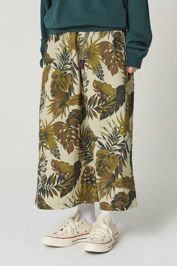 WEATHER LONG FLARE SKIRT BOTANICAL BEIGE