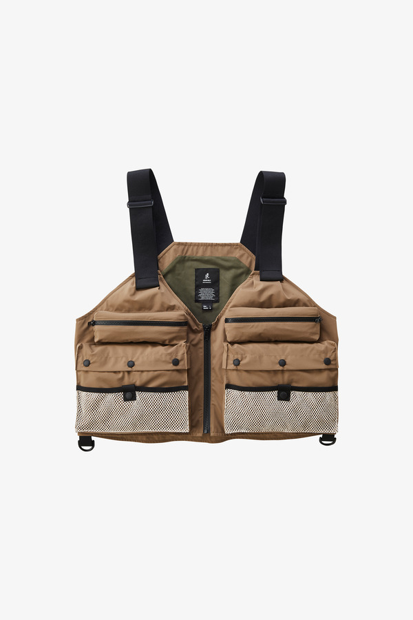 3LAYER FISHING VEST TAUPE